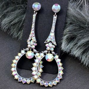 Swarovski AB Crystal Event Earrings